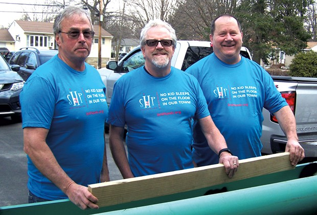 From left: Childhood friends Dan Parot, Mike Lemieux and Bob Brosseau - GLENN RUSSELL