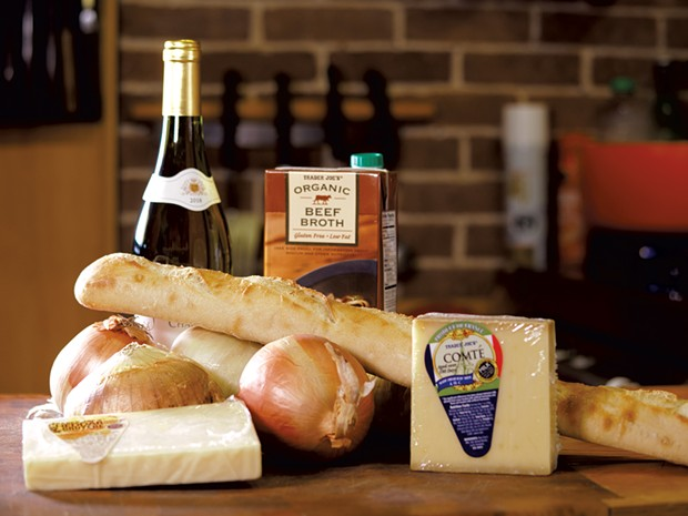 Ingredients for French onion soup - ANDY BRUMBAUGH