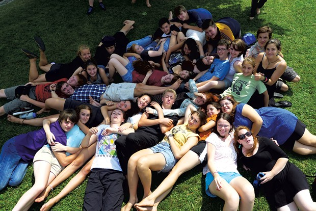 Campers taking a break from rehearsal - COURTESY OF PETER GOULD