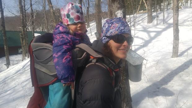 Sarah and Winter explore the woods - SEAN PRENTISS