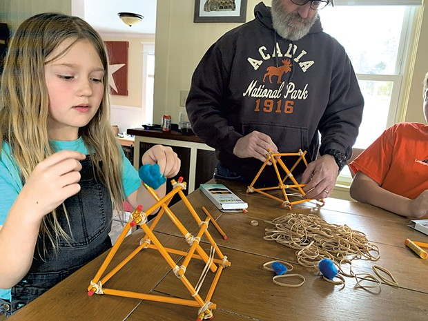 Heather Duhamel's family builds a catapult - COURTESY OF HEATHER DUHAMEL