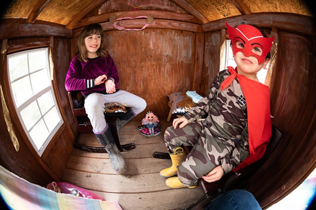 Inside the play fort - CAT CUTILLO