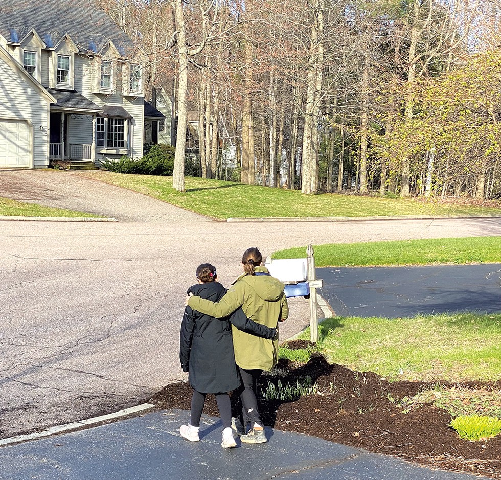 Alison and Mira heading out for their morning walk - COURTESY OF ALISON NOVAK