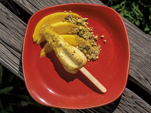 Mango Kulfi Popsicles - ANDY BRUMBAUGH