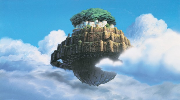 The ancient utopian city in the movie - © 1986 STUDIO GHIBLI