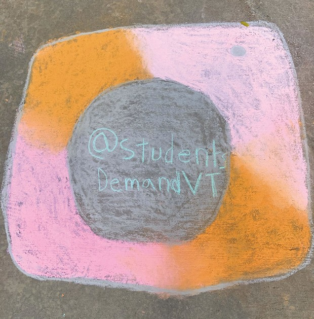 Chalk drawing made at an October event organized by Maddie - COURTESY OF MADDIE AHMADI