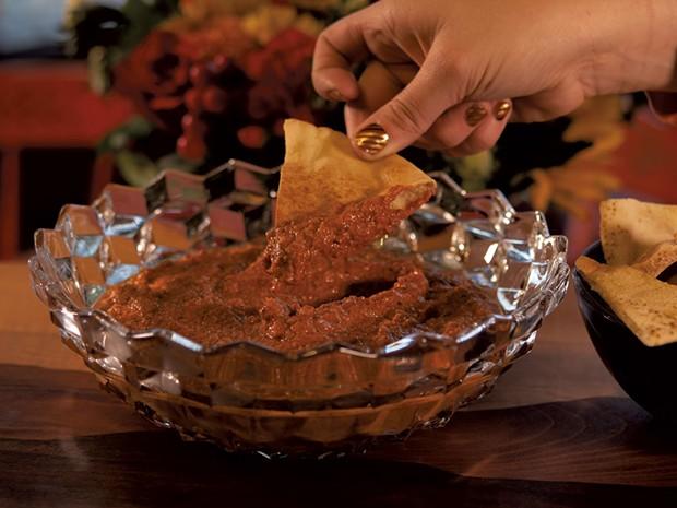 Muhammara and Pita Chips - ANDY BRUMBAUGH