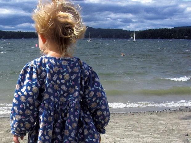 A young Gabriela at Lake Caspian - BRETT ANN STANCIU