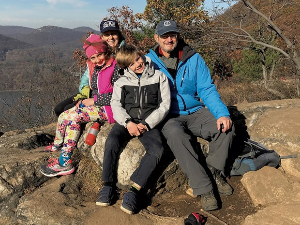 Alison's parents and kids on a hike in New York during pre-pandemic times - COURTESY OF BARB KOREIN