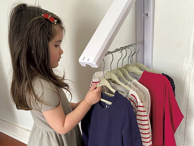 Picking out clothes in the get-ready zone - COURTESY OF MEREDITH BAY-TYACK