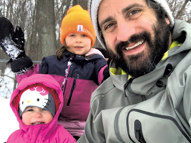 Keegan and his daughters enjoy some outdoor time - KEEGAN ALBAUGH