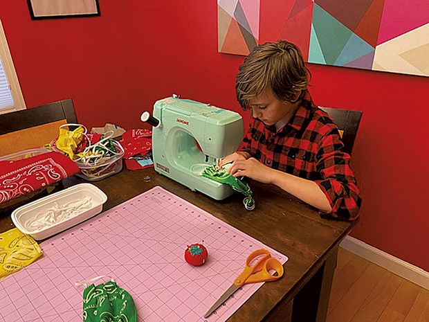 Orion sewing bandanna masks