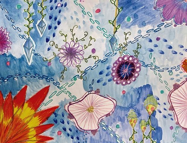 Artwork by Ofira, grade 6 - COURTESY OF EMILY JACOBS
