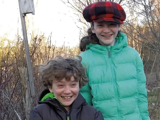Rowan (left) and Ezra Sinclair