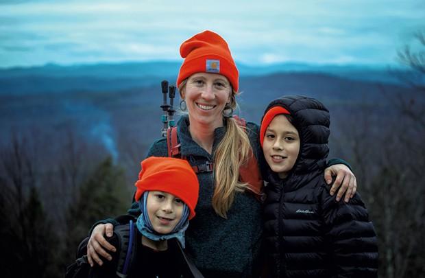 Allison Korn of Brattleboro with her children - COURTESY OF ALLISON KORN