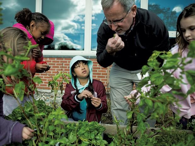 Burlington students explore their school garden - COURTESY OF ANDY DUBACK