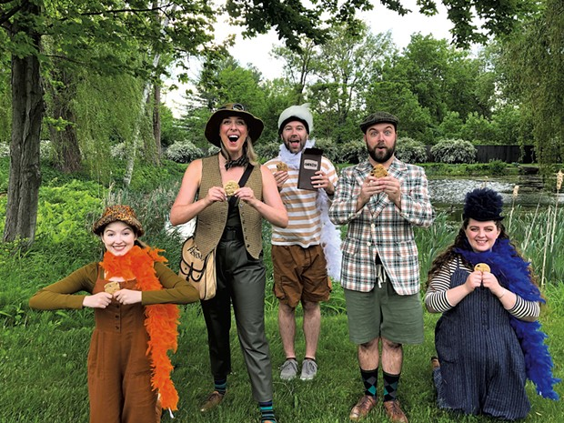 The cast of A Year With Frog and Toad at Shelburne Museum - CAITLIN DURKIN