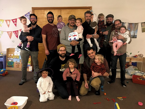 Dad Guild members and their children - COURTESY OF KEEGAN ALBAUGH