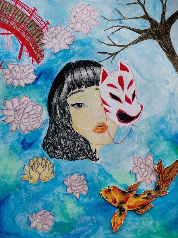 """Lily Pond"" by Mea Ree J., age 14"