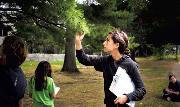 Vermont Commons students recording nature observations - COURTESY OF PETER GOFF