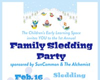 Family Sledding Party