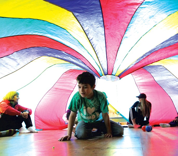 Parachute play at Camp Kaleidoscope - MATTHEW THORSEN