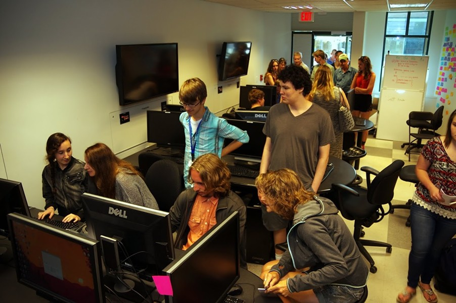 Students from the first summer session of the Champlain Game Academy - CHAMPLAIN COLLEGE