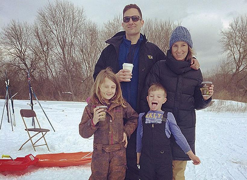 The Novaks at Burlington's Intervale Center last winter - ALISON NOVAK