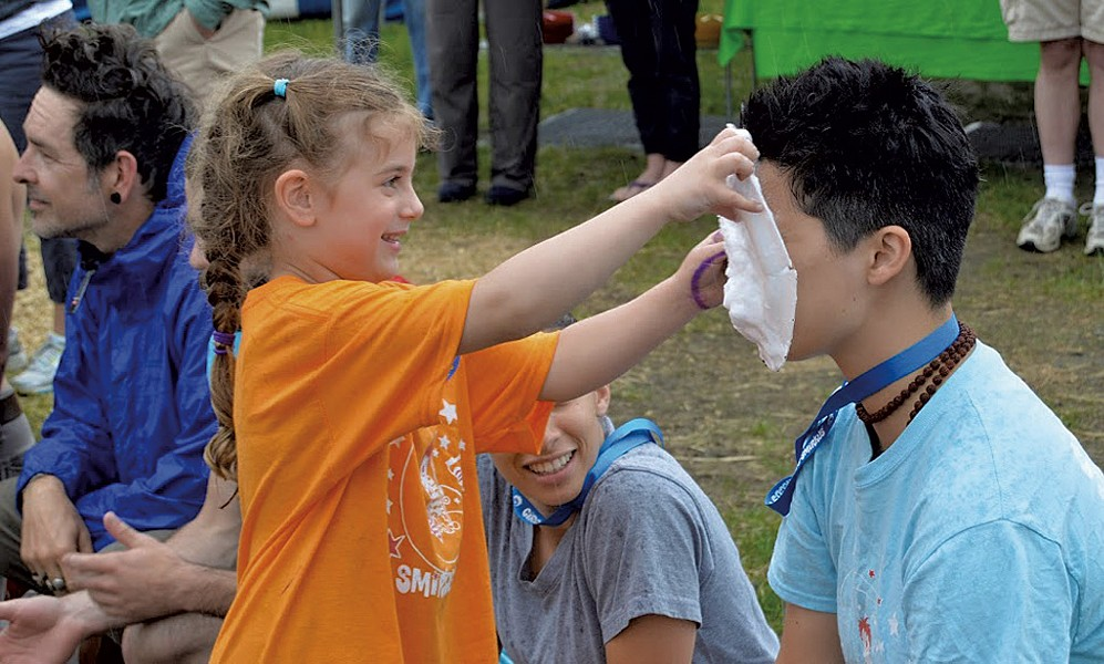 Throwing pie at Smirkus Camp - COURTESY OF CIRCUS SMIRKUS