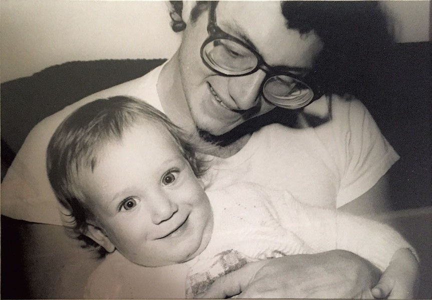 Alison and her dad, Jim, 1978