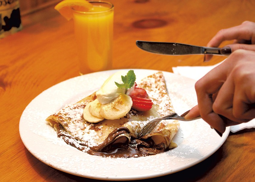 Nutella banana crêpe - COURTESY OF RUSTIC ROOTS