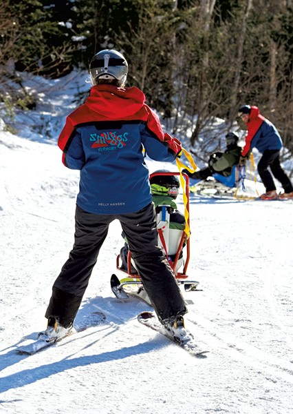 Adaptive skiing at Smugglers' Notch - COURTESY OF SMUGGLERS' NOTCH