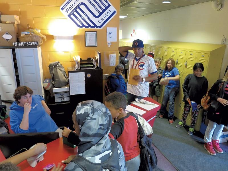 Barrino supervises kids after school - MATTHEW THORSEN