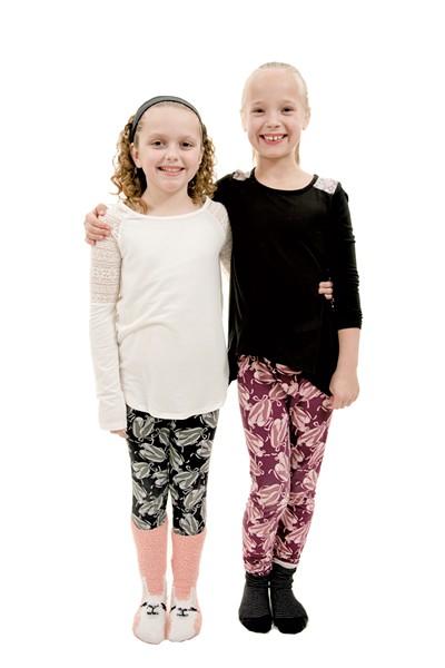 Emma, 9, (left) and Cora, 9, Fairfax - SAM SIMON