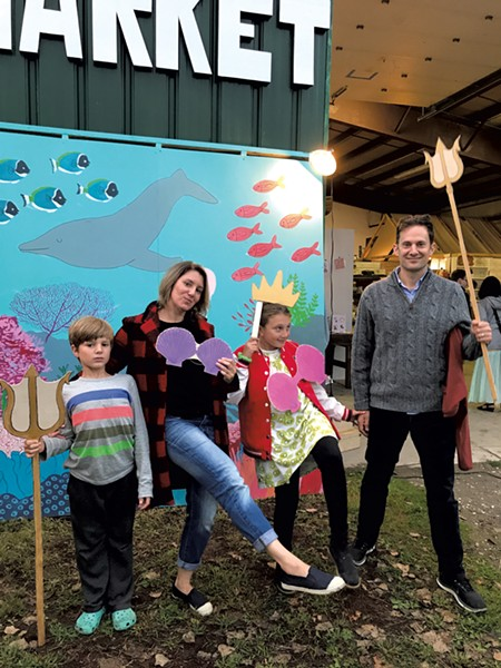 The Novak family gets theatrical at last year's South End Art Hop - COURTESY OF ALISON NOVAK
