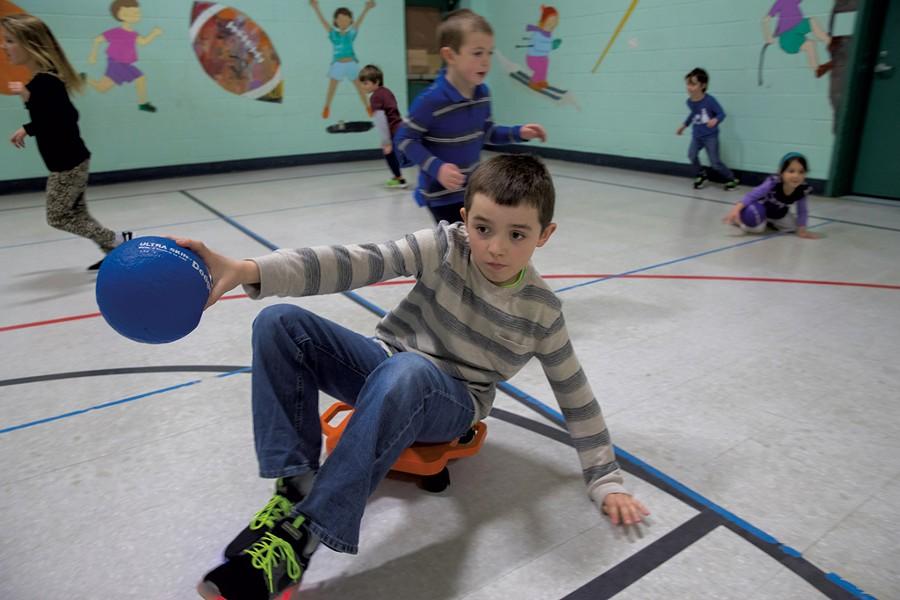 PE class at Richmond Elementary School - JAMES BUCK