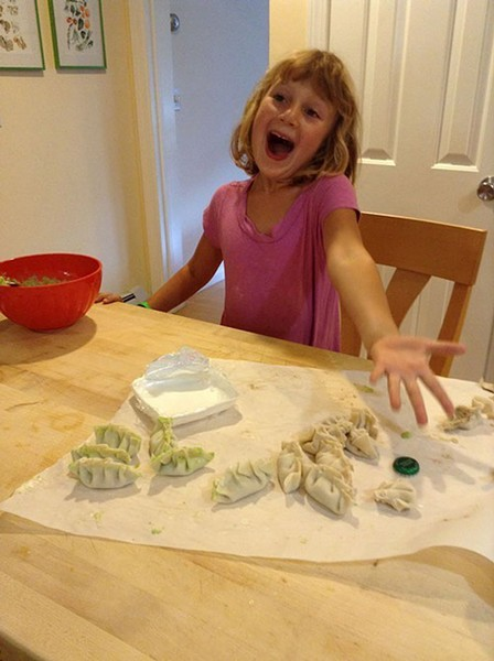 Mira makes dumplings in 2013 - COURTESY OF ALISON NOVAK
