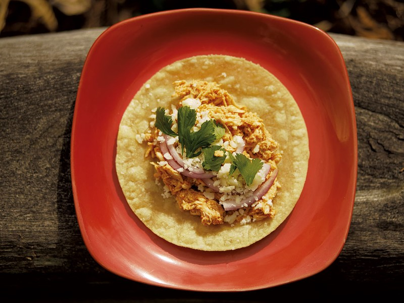 Chicken Tinga Tacos - ANDY BRUMBAUGH