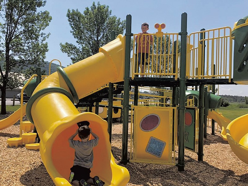 The main play structure at the Community Playground at Collins Perley - COURTESY OF VALDEMAR GARIBAY