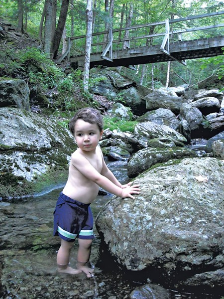 Taking a dip in a brook on Camel's Hump - HEATHER FITZGERALD