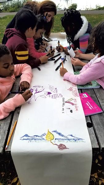 A group art poem