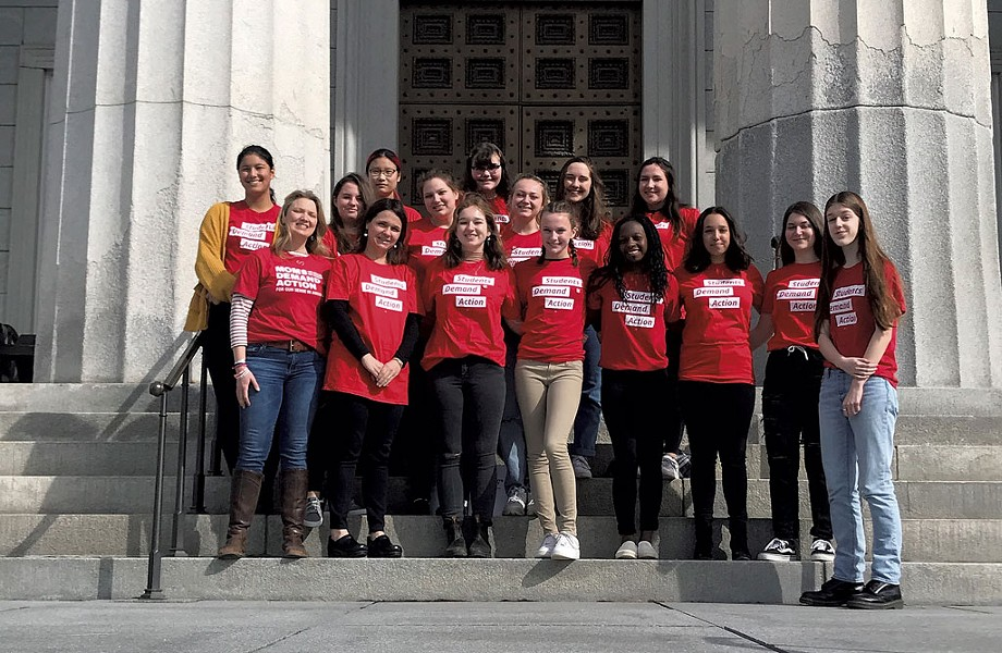 Maddie's Students Demand Action group at the Statehouse in March - COURTESY OF MADDIE AHMADI
