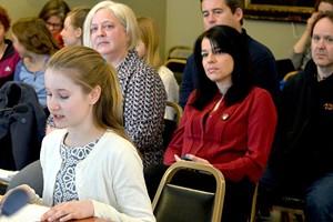 Taegan Yardley testifies last spring at the Vermont Statehouse