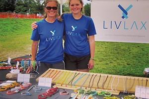 Olivia (right) with mom Jen