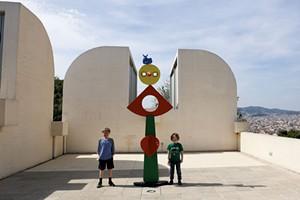 Damien and Amos at Joan Miró Fundació