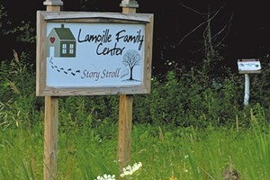 The Lamoille Family Center in Morrisville created its story walk trail five years ago and changes the featured book seasonally