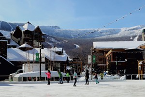 Skating is free in this picturesque ski village