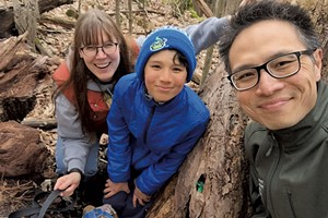 Heather with husband Ben and son Jesse in Burlington's Arms Forest