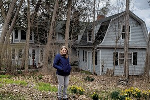 Astrid's mother, Eloise, at home in South Hero