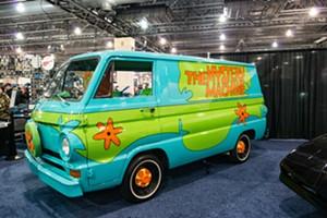 The Scooby-Doo crew's Mystery Machine